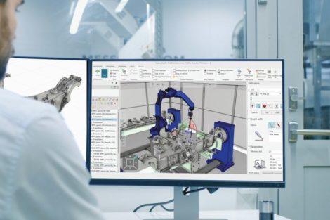 Einfache simulationsbasierte Offline-Programmierung von Roboterzellen