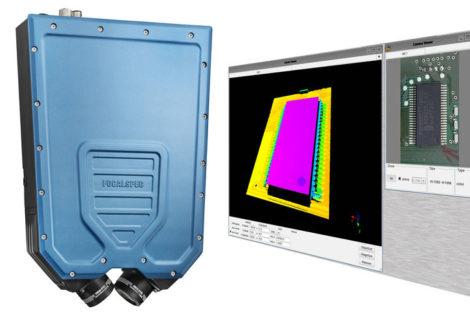 Sensor zur Prüfung von SMD Bauteilen.