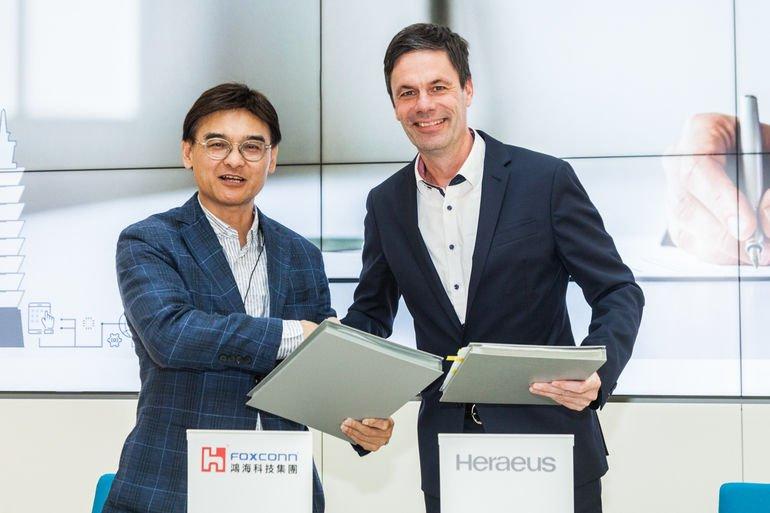 Strategische Zusammenarbeit von Foxconn und Heraeus.