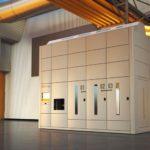 Effizientes Lagersystem für elektronische Bauteile.