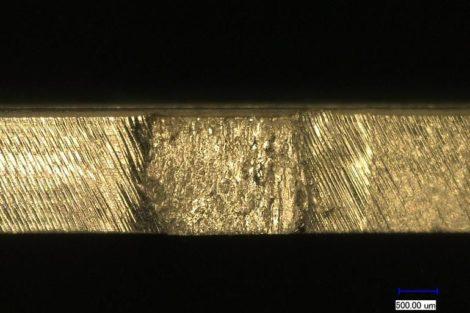 Nutzentrennverfahren für IMS-Substrate mit Metallkern