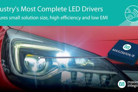 Kompakte LED-Treiber mit hoher Effizienz.