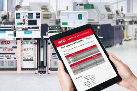 """Prüfsysteme innerhalb der """"Smart Factory"""" werden mit dem MCD-Tool """"Test System Monitoring"""" überwacht."""