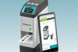 Der handliche Thermotransferdrucker Thermomark GO erlaubt eine sehr flexible Kennzeichnung überall.