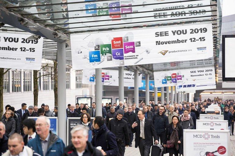 Die Weltleitmesse productronica zeigt die gesamte Wertschöpfungskette einer Elektronikfertigung.