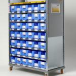 Mobiles Kanban-Regal für flexible Hallenlayouts