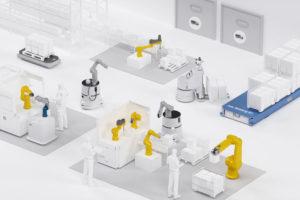 Automatisierung digitaler Fabriken durch Stäubli