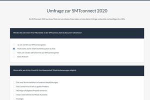 Umfrage zur SMTconnect 2020